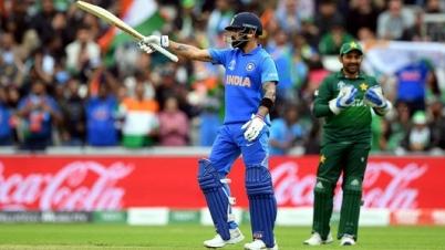 পাকিস্তানকে ৩৩৭ রানের টার্গেট দিল ভারত