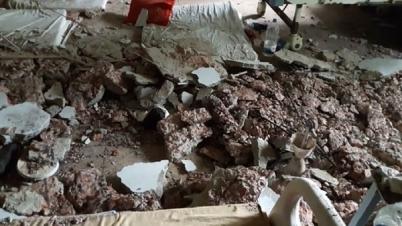 হাসপাতালের ছাদের পলেস্তারা খসে ১০ শিশু আহত