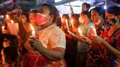 মিয়ানমারে জোরালো হচ্ছে বিক্ষোভ, রাস্তায় শত শত মানুষ